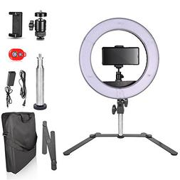 Emart 14 inch Bi-color LED Tabletop Ring Light Kit, Ultra Th