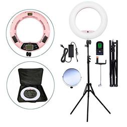 Yidoblo Bicolor 96W LED Ring Light Kit with Stand for Photo