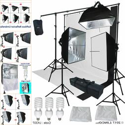 Black/White Backdrop Support Stand Photography Studio Video