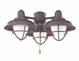 Boardwalk Cage Indoor/Outdoor Ceiling Fan Light Kit - Finish