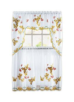 Carol Wright Gifts Butterfly Curtain Set, Yellow