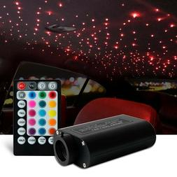 Car 12v 300 pc LED Fiber Optic Light Star Ceiling Kit 12W Mu