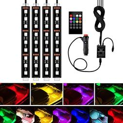 Car LED Strip Light, YANF 4Pcs 36 LED Music Car Interior Lig