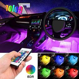 Car LED Strip Light, EJ's SUPER CAR 4pcs 36 LED Multi-color
