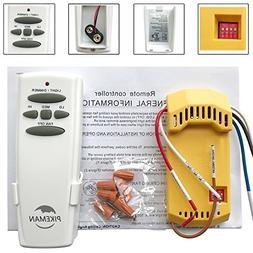 Universal Ceiling Fan Remote Control and Receiver Complete K