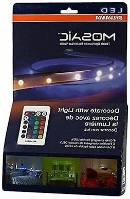 Sylvania LED RGBW Color Changing Strip Lights RGBW Mosaic Fl