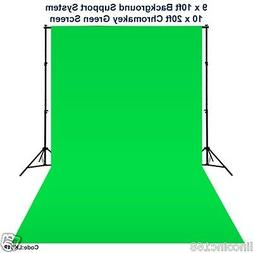 10 x 20 Chromakey Green Screen Backdrop Background Stand for