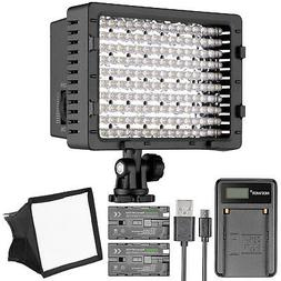Neewer CN-160 LED Digital Camera Video Lighting Kit- Dimmabl