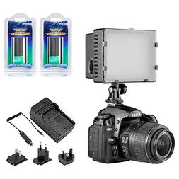 Neewer CN-216 Dimmable Panel Digital Camera Video Light Kit,