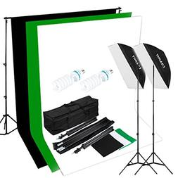 CRAPHY 125W 5500K Photography Studio Video Lights Lighting K