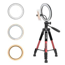 Dimmable LED Ring Light Kit Photography Selfie Light Photo C