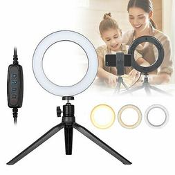 dimmable led ring light kit with stand