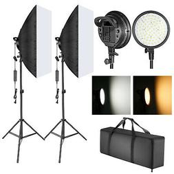 Neewer Dimmable LED Softbox Lighting and 48W 2-color Tempera