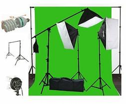 ePhoto 10 x 20 Muslin Chromakey Green Screen Background Supp