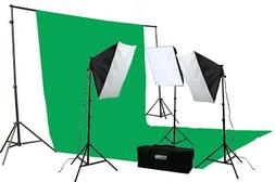 ePhoto 2400 Watt Continuous Video Photography Studio Chromak