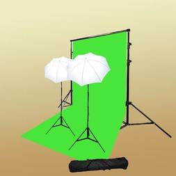 ePhoto T69green/bag Continuous Lighting Green Screen Studio