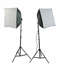 ePhotoInc Photography Video Studio Lighting Kit 2 EZ Softbox