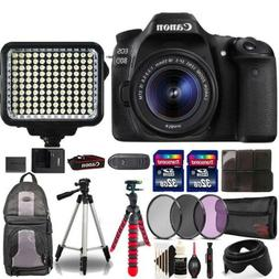 Canon EOS 80D DSLR with 18-55mm Lens , 120 LED Light and Top