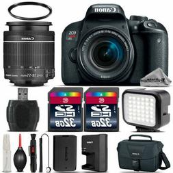 Canon EOS Rebel T7i Camera 800D + 18-55 STM + LED Light + Ca