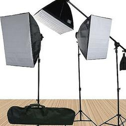 Fancierstudio FL9060S4 3800 Watt Softbox Video Lighting Kit