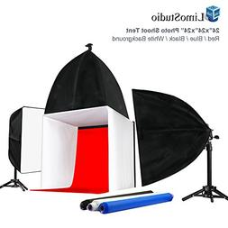LimoStudio Photo Shoot Tent 24-inch with Color Background, L