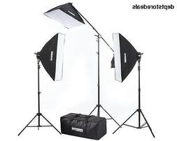 Fovitec Softbox Lighting Kit w/ Boom Socket Head Sandbag Day