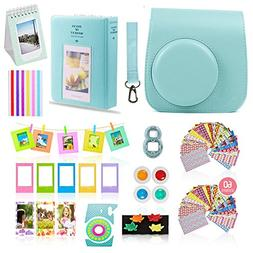 Fujifilm Instax Mini 9 Camera Accessories Bundle, ICE BLUE I