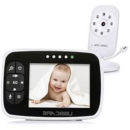 "Home Video Baby Monitors Camera 3.5"" Large LCD Screen Night"