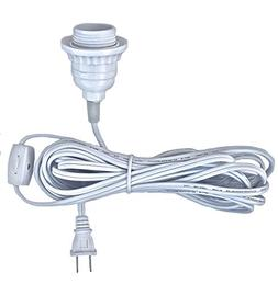 Happy Sales HSCORD-W Hanging Lantern Cord 15'L White