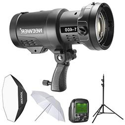 Neewer 400W 2.4G HSS Dual TTL Outdoor Flash Strobe Light Kit