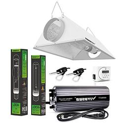 VIVOSUN Hydroponic 400 Watt HPS MH Grow Light Air Cooled Ref