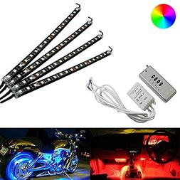 iJDMTOY 4pc Wireless Control 72-SMD RGB 7-Color LED Knight R
