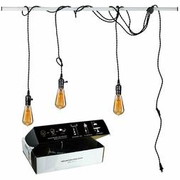 Vintage Pendant Light Kit Plug in Hanging Lighting Fixture 2