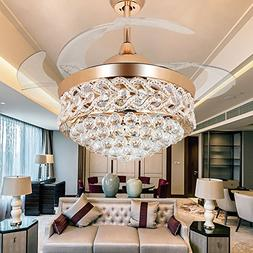 RS Lighting The K9 Crystal Ceiling Fan for Room Decoration -