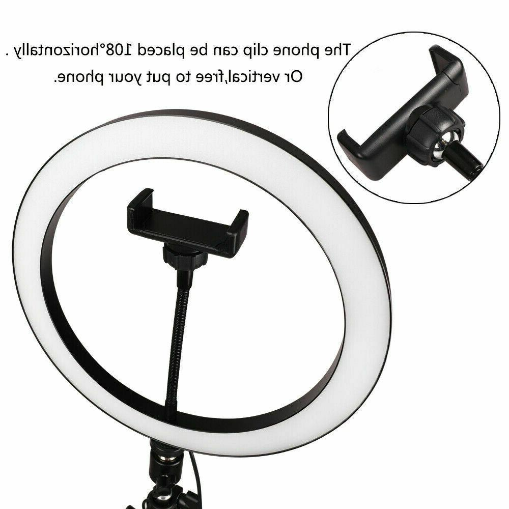 """10"""" LED w/Stand & for Selfie Video"""