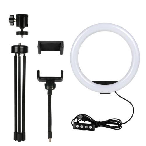 """10"""" LED Ring with & Phone Dimmable Ringlight Kit"""