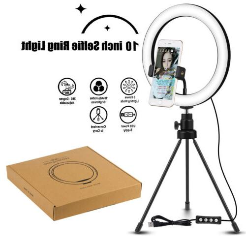 """10"""" LED Ring with & Phone Holder Ringlight"""