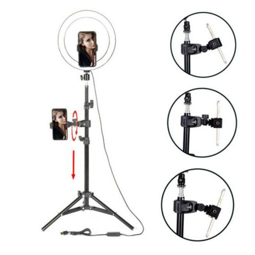 "10"" Desktop Ring Light phone holder for Live vedio Makeup"