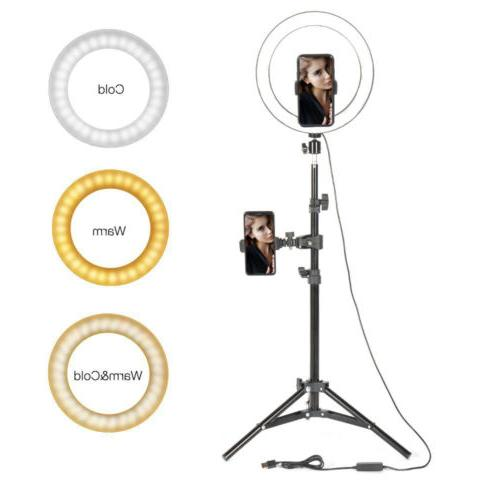 10 selfie desktop led ring light