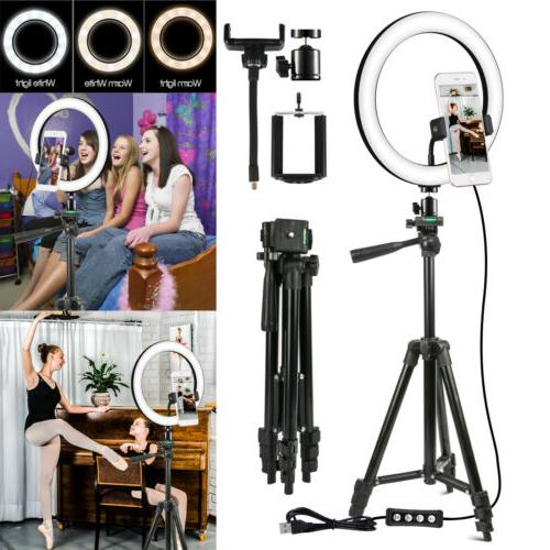10 video led ring light with camera