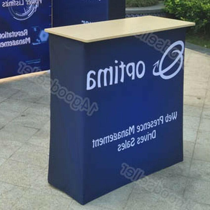 10ft Portable Trade Display Pop Up Kits with Counter Stand