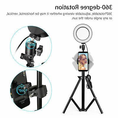 "12"" Ring Light Kit Stand for Phone Camera Selfie"