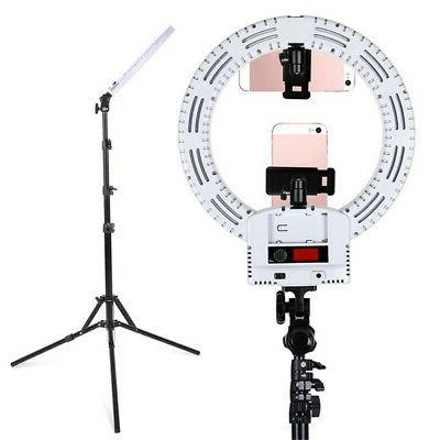 """12""""LED Ring Kit Dimmable Bi-color For Camera Makeup Phone"""