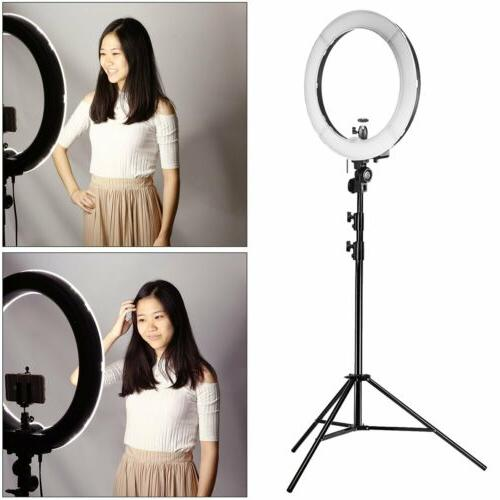 ULTIMAXX Ring Light 240 SMD 5600K Kit with Stand And Case