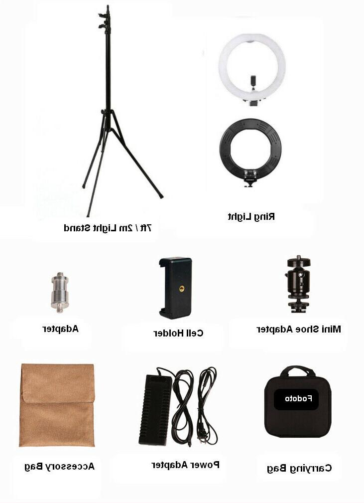 """Fodoto 18"""" inch LED Ring Kit with Media/Beauty Shoot"""