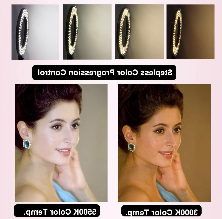 Fodoto LED Ring Light with Stand Media/Beauty Shoot