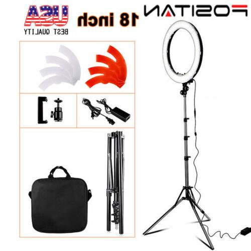 "18"" LED SMD Ring Light Kit with Stand Dimmable 5500K for Mak"