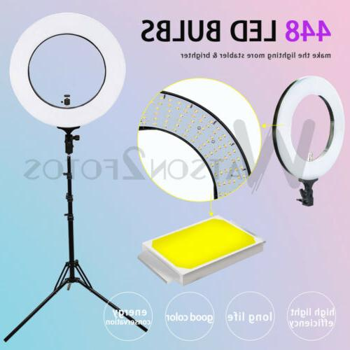 19''LED Ring Light Kit with 5500K for Camera