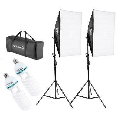 2* Photography Lighting Softbox Stand Photo Equipment Soft S