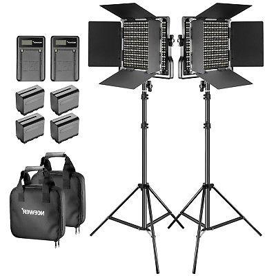 Neewer 2 Pack Studio Dimmable Bi-color LED 660 Video Light a